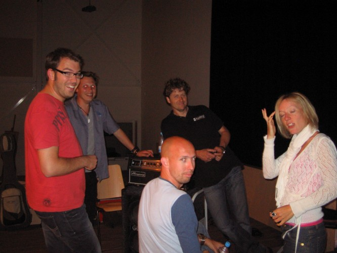 Left to Right: Wilco, Mattias, Henk, Alco and Jessica