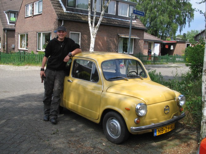 Mattias and his Yugoslavian Hotrod!