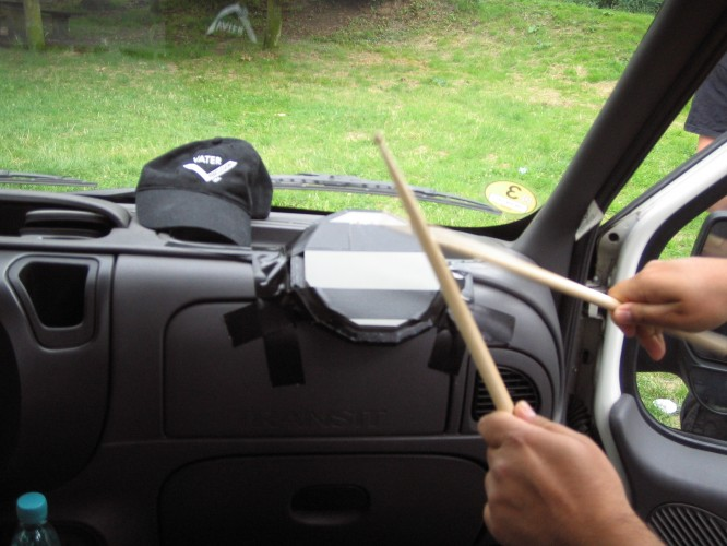 Practising on the road!